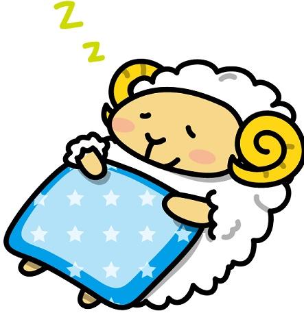 眠っている羊